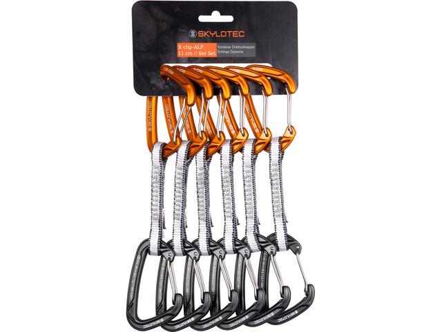 Skylotec X-Clip-Alp Set moschettoni 11cm 6 pezzi, dark grey/orange